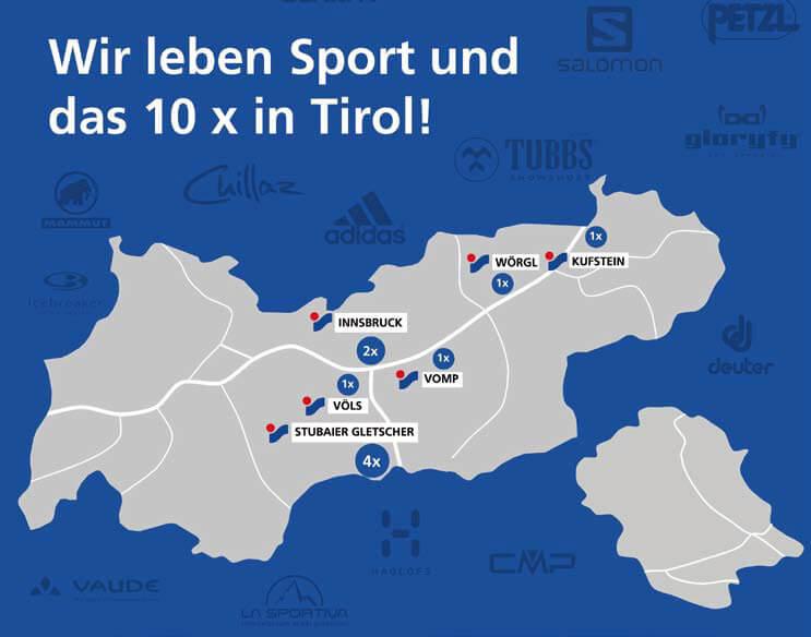 Intersport Standortkarte